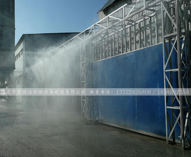 北京昌平区住总预制件厂—围挡喷淋系统案例