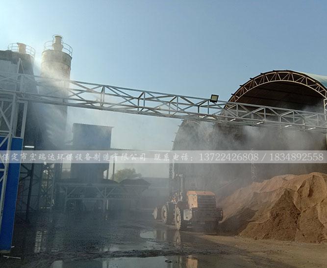 围挡喷淋系统—北京南农水泥构建厂项目案例