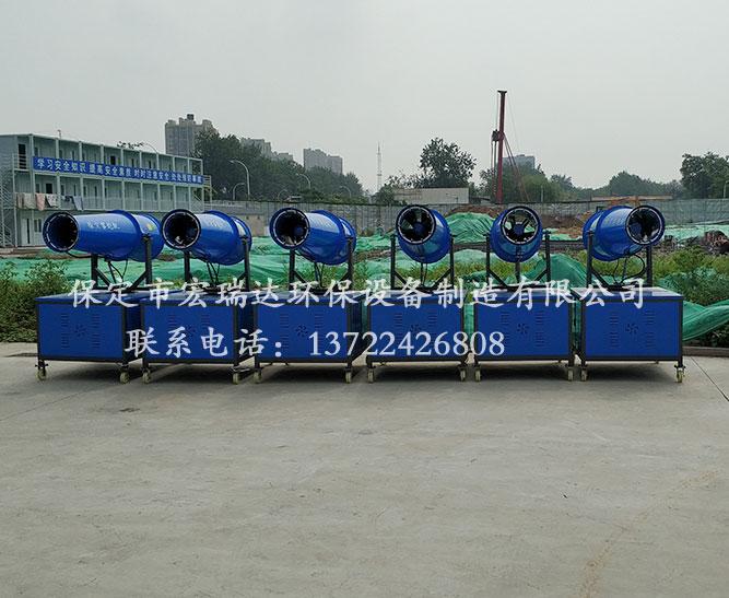 保定宏瑞达30米降尘雾炮机—湖北京奥建设使用案例
