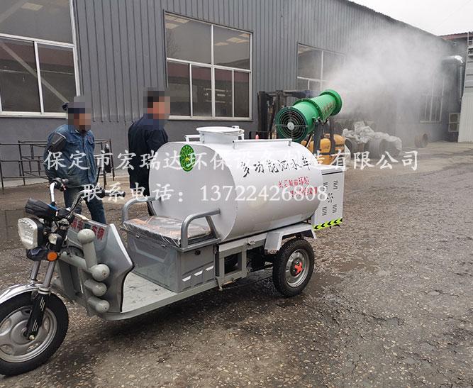 陕西安平县金属网业厂使用保定宏瑞达洒水雾炮车案例
