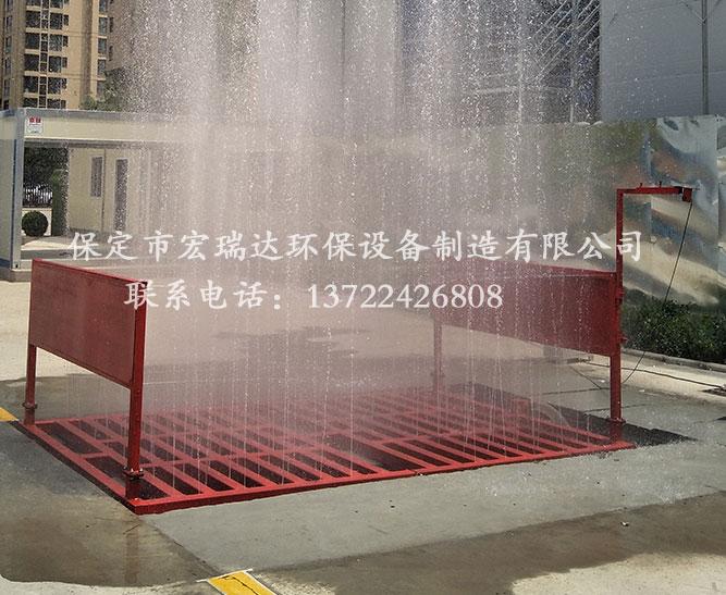 保定宏瑞达100T工地洗车槽为山西朔州路桥建设施工助力