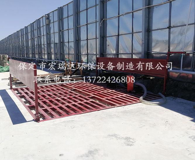 青海西宁建筑工地使用保定宏瑞达定制款工程洗轮机案例