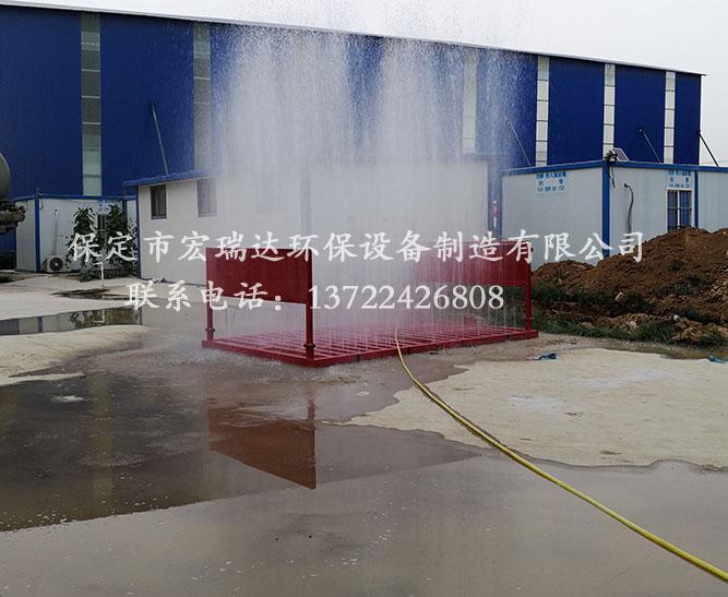 陕西商洛混凝土搅拌站使用保定宏瑞达工程洗轮机案例