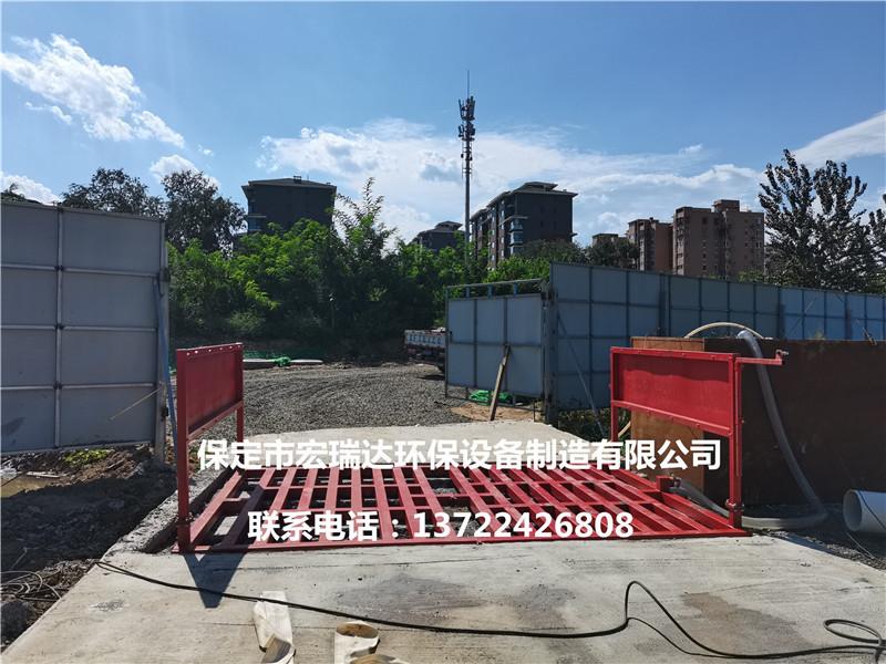 河南建筑工地使用宏瑞达工程洗轮机案例