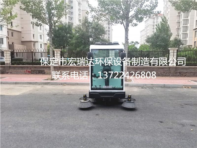 宏瑞达电动清扫车走进陕西西安小区助力环境清洁