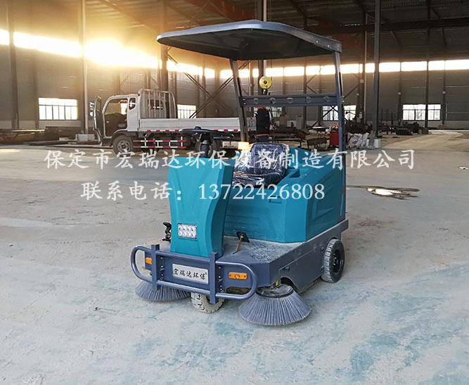 宏瑞达1550电动扫地车在河南许昌铸造厂上岗