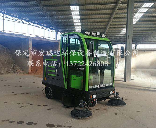 山东淄博石料厂使用保定宏瑞达2150电动清扫车案例