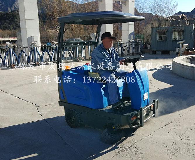 山西大同度假村使用保定宏瑞达1550电动扫地车案例