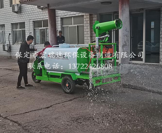 保定宏瑞达洒水雾炮车在唐山旧金属加工厂上岗