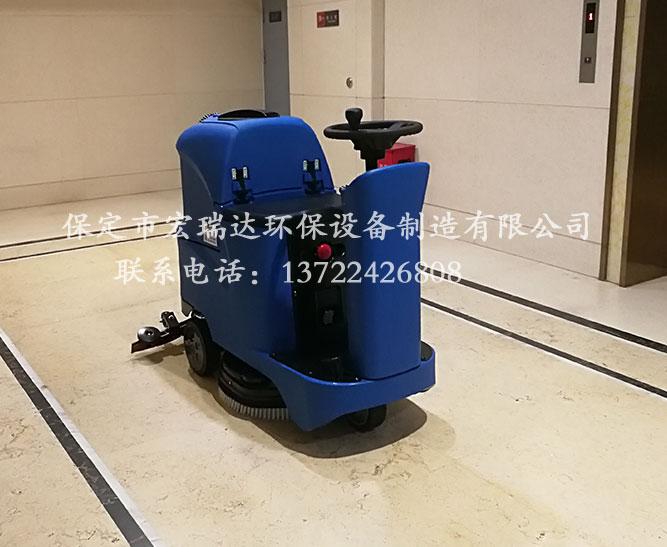 秦皇岛酒店使用保定宏瑞达驾驶式洗地机案例