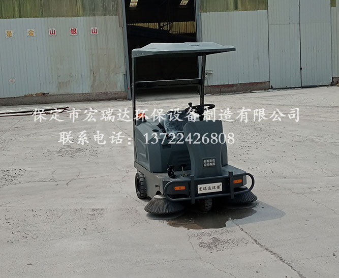 唐山钢材厂使用保定宏瑞达电动扫地车案例