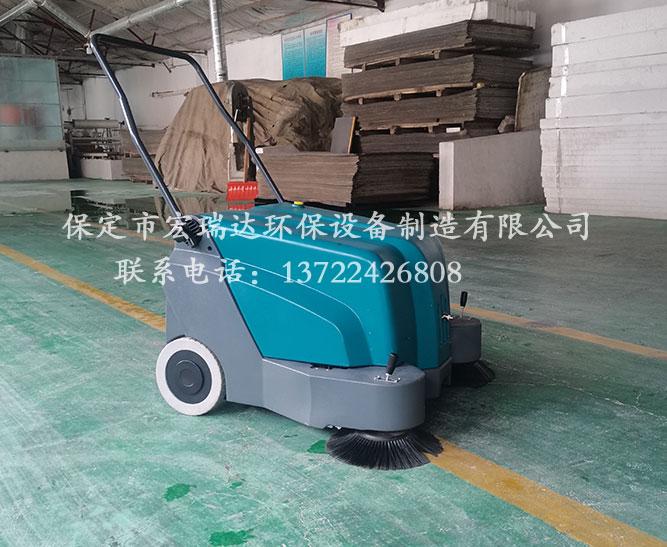 宏瑞达手推式扫地机在承德建材厂上岗