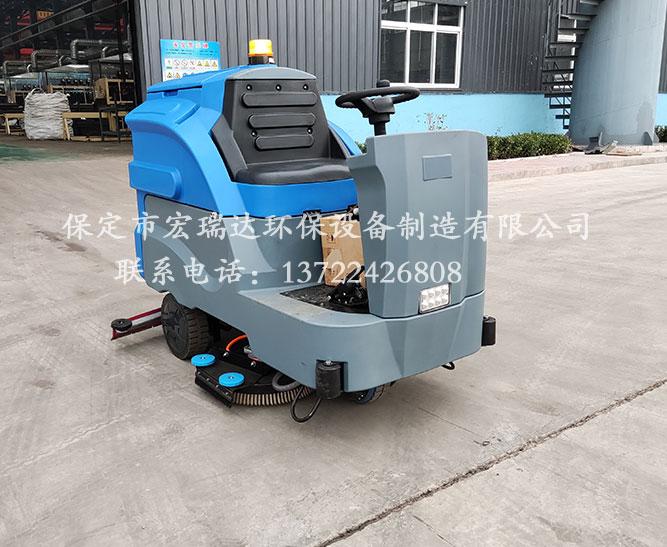 宏瑞达驾驶式洗地机在天津铸造厂上岗